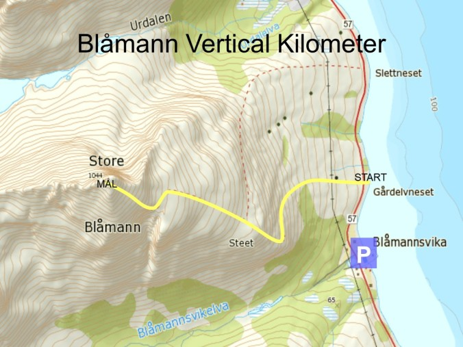 Blåmann VK 2018 Løype